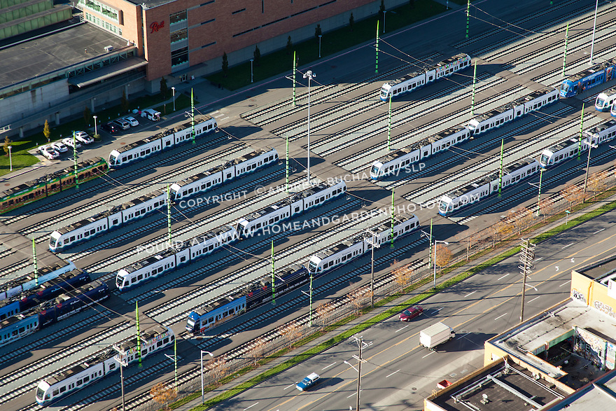 Aerial view of Seattle's SoundTransit