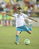 Sonia Bompastor #8 of Marta's XI during the WPS All-Star game against Abby's XI at the KSU Stadium in Kennesaw, Georgia on June 30 2010. Marta XI won 5-2.