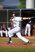 Seattle Mariners Conner Hale (7) hits a home run during an instructional league intrasquad game on October 6, 2015 at the Peoria Sports Complex in Peoria, Arizona.  (Mike Janes/Four Seam Images)