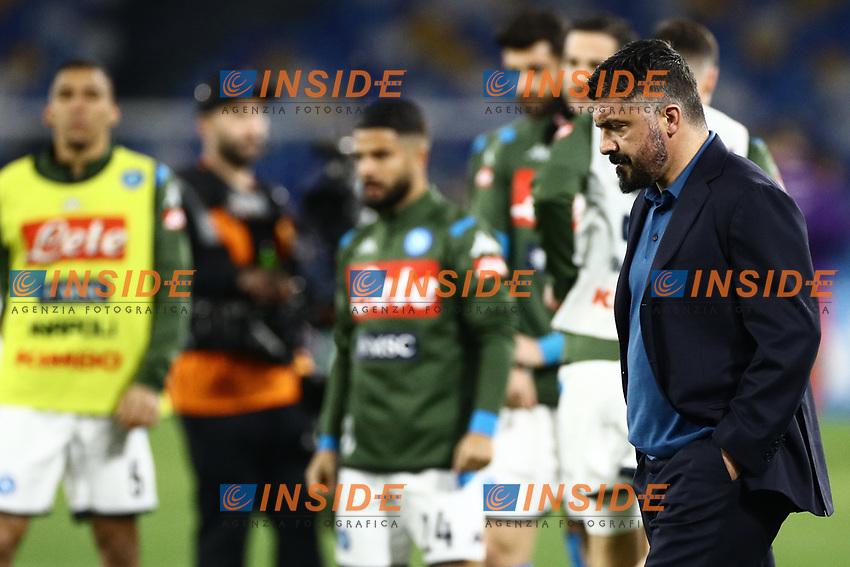 Gennaro Gattuso coach of Napoli during the warm up<br /> Napoli 18-01-2020 Stadio San Paolo <br /> Football Serie A 2019/2020 <br /> SSC Napoli - ACF Fiorentina<br /> Photo Cesare Purini / Insidefoto