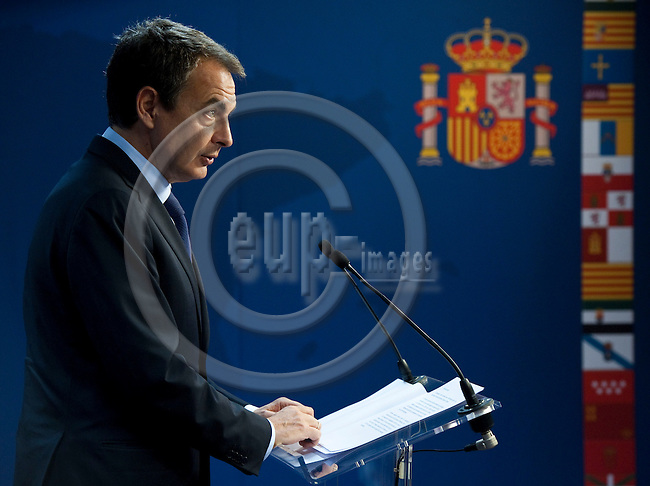 Brussels-Belgium - December 09, 2011 -- European Council, EU-summit during Polish EU-Presidency; here, José Luis Rodríguez ZAPATERO (Jose, Rodriguez), outgoing Prime Minister of Spain, during his (presumably last) press conference at the EU-Council -- Photo: Horst Wagner / eup-images