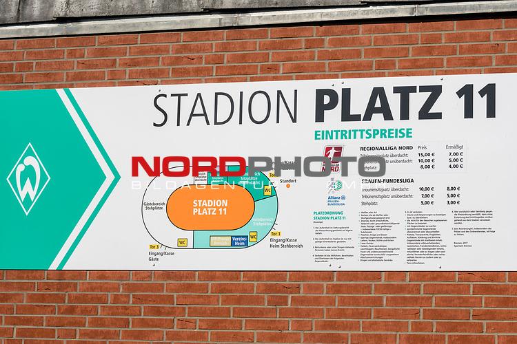21.05.2020, wohninvest Weserstadion Trainingsplatz, Bremen, GER, Werder Bremen, Training, <br /> <br /> im Bild<br /> Stadionordnung Platz 11. Feature / Symbol / Symbolfoto / charakteristisch / Detail<br /> <br /> Foto © nordphoto / Paetzel