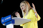 Cristina Cifuentes Spanish policy of the Popular Party and President of the Community of Madrid, speaks during the party final campaign meeting. June 24,2016. (ALTERPHOTOS/Acero)
