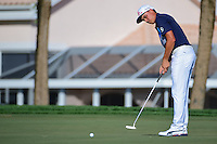 Rickie Fowler (USA) watches his putt on 13 during round 3 of the Honda Classic, PGA National, Palm Beach Gardens, West Palm Beach, Florida, USA. 2/25/2017.<br /> Picture: Golffile | Ken Murray<br /> <br /> <br /> All photo usage must carry mandatory copyright credit (&copy; Golffile | Ken Murray)