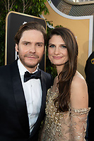 Daniel Bruhl and guest attend the 76th Annual Golden Globe Awards at the Beverly Hilton in Beverly Hills, CA on Sunday, January 6, 2019.<br /> *Editorial Use Only*<br /> CAP/PLF/HFPA<br /> Image supplied by Capital Pictures