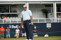 Sepp Straka (USA) watches his putt on 18 during round 4 of the 2019 Houston Open, Golf Club of Houston, Houston, Texas, USA. 10/13/2019.<br /> Picture Ken Murray / Golffile.ie<br /> <br /> All photo usage must carry mandatory copyright credit (© Golffile | Ken Murray)