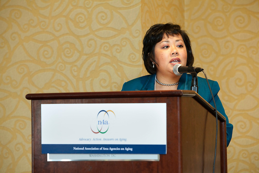 Maria Gonzales Jackson speaks at the Older Volunteers Enrich America Awards at the Double Tree Hotel in Washington, DC on Friday, June 17, 2011.