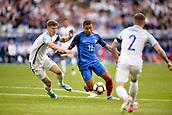 June 13th 2017, Stade de France, Paris, France; International football friendly, France versus England;  KYLIAN MBAPPE (fra) takes on John Stones (eng)