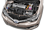 Car Stock 2015 Toyota Auris Touring Sports Business Plus 5 Door Wagon Engine high angle detail view
