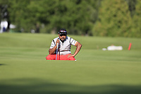 Rahil Gangjee (IND) on the 10th green during Thursday's Round 1 of the 2017 Omega European Masters held at Golf Club Crans-Sur-Sierre, Crans Montana, Switzerland. 7th September 2017.<br /> Picture: Eoin Clarke | Golffile<br /> <br /> <br /> All photos usage must carry mandatory copyright credit (&copy; Golffile | Eoin Clarke)