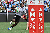 2nd February 2019, Spotless Stadium, Sydney, Australia; HSBC Sydney Rugby Sevens; England versus Fiji; Waisea Nacuqu of Fiji evades the tackle from Phil Burgess of England on his way to scoring a try