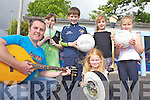 FUN TIME: Risteárd Ó Fuaráin of Ógras which will host its first ever summer camp for children in Milltown this summer, pictured with participants, l-r: Milly Mason, Cillian Burke, Saibh O'Brien, Caoimhe O'Brien and Freya Mason (front).