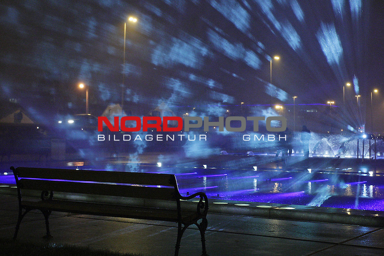 18.12.2013., Zagreb, Croatia - Every day from 6 pm to 9 pm citizens can enjoy the magic of Advent projections at the fountains near National and University Library in Zagreb.<br />  Foto &not;&copy; nordphoto / Borna Filic