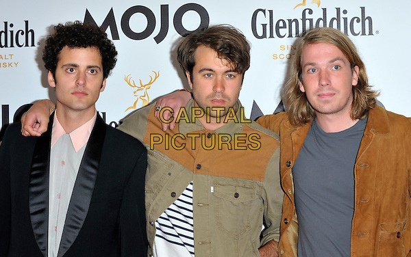The Vaccines.Mojo Honours List 2011 Awards Ceremony, held at The Brewery - Arrivals London, England..July 21st, 2011.half length black grey gray green beige brown shirt jacket band group Justin Young Árni Hjörvar Freddie Cowan Pete Robertson.CAP/CJ.©Chris Joseph/Capital Pictures.