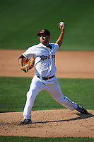 Rochester Red Wings pitcher Pat Dean (21) delivers a pitch during a game against the Indianapolis Indians on June 10, 2015 at Frontier Field in Rochester, New York.  Indianapolis defeated Rochester 5-3.  (Mike Janes/Four Seam Images)