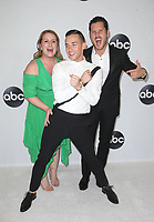 BEVERLY HILLS, CA - August 7: Mandy Moore, Valentin Chmerkovskiy, Adam Rippon, at Disney ABC Television Hosts TCA Summer Press Tour at The Beverly Hilton Hotel in Beverly Hills, California on August 7, 2018. <br /> CAP/MPI/FS<br /> &copy;FS/MPI/Capital Pictures