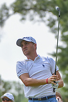Justin Thomas (USA) watches his tee shot on 15 during 2nd round of the World Golf Championships - Bridgestone Invitational, at the Firestone Country Club, Akron, Ohio. 8/3/2018.<br /> Picture: Golffile | Ken Murray<br /> <br /> <br /> All photo usage must carry mandatory copyright credit (&copy; Golffile | Ken Murray)