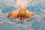 18 February 2016: Boston College's Katherine Karle Moynihan competes in the Women's 200 Individual Medley preliminary Heat 2. The 2016 Atlantic Coast Conference Swimming and Diving Championships were held at the Greensboro Aquatic Center in Greensboro, North Carolina from February 17-27, 2016.