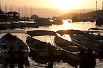 Fishing boats and marina at sunset, Chaguaramas, Trinidad