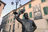 - Brescello (Reggio Emilia),  la statua di Peppone davanti al municipio<br /> <br /> - Brescello (Reggio Emilia), the statue of Peppone in front of  town hall