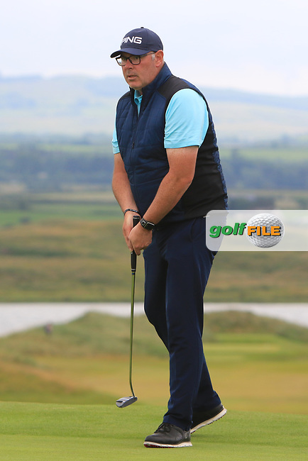 Gary Cullen (The Links Portmarnock) on the 17th green during Round 2 of the North of Ireland Amateur Open Championship 2019 at Portstewart Golf Club, Portstewart, Co. Antrim on Tuesday 9th July 2019.<br /> Picture:  Thos Caffrey / Golffile<br /> <br /> All photos usage must carry mandatory copyright credit (© Golffile | Thos Caffrey)