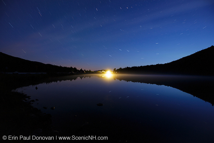 Crawford Notch State Park - Saco Lake  at  night in the White Mountains, New Hampshire USA during the summer months.