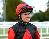 Jockey Finlay Marsh during Evening Racing at Salisbury Racecourse on 3rd September 2019