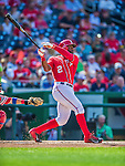 6 September 2014: Washington Nationals outfielder Denard Span in action against the Philadelphia Phillies at Nationals Park in Washington, DC. The Nationals fell to the Phillies 3-1 in the second game of their 3-game series. Mandatory Credit: Ed Wolfstein Photo *** RAW (NEF) Image File Available ***