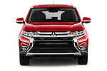 Car photography straight front view of a 2016 Mitsubishi Outlander GT 5 Door SUV Front View