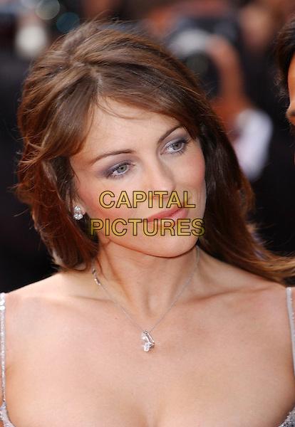 LIZ HURLEY - ELIZABETH HURLEY.Cannes Film Festival 2003.necklace.www.capitalpictures.com.sales@capitalpictures.com.©Capital Pictures