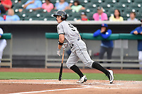 Jackson Generals catcher Marcus Littlewood (9) swings at a pitch during a game against the Tennessee Smokies at Smokies Stadium on July 5, 2016 in Kodak, Tennessee. The Generals defeated the Smokies 6-4. (Tony Farlow/Four Seam Images)