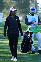 Condoleeza Rice at Spyglass Hill during the first round of the AT&T Pro-Am, Pebble Beach Golf Links, Monterey, California, USA. 06/02/2020<br /> Picture: Golffile | Phil Inglis<br /> <br /> <br /> All photo usage must carry mandatory copyright credit (© Golffile | Phil Inglis)