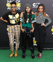SANTA MONICA, CA, USA - FEBRUARY 15: Sierra McClain, China Anne McClain, Lauryn McClain at the 4th Annual Cartoon Network Hall Of Game Awards held at Barker Hangar on February 15, 2014 in Santa Monica, California, United States. (Photo by David Acosta/Celebrity Monitor)