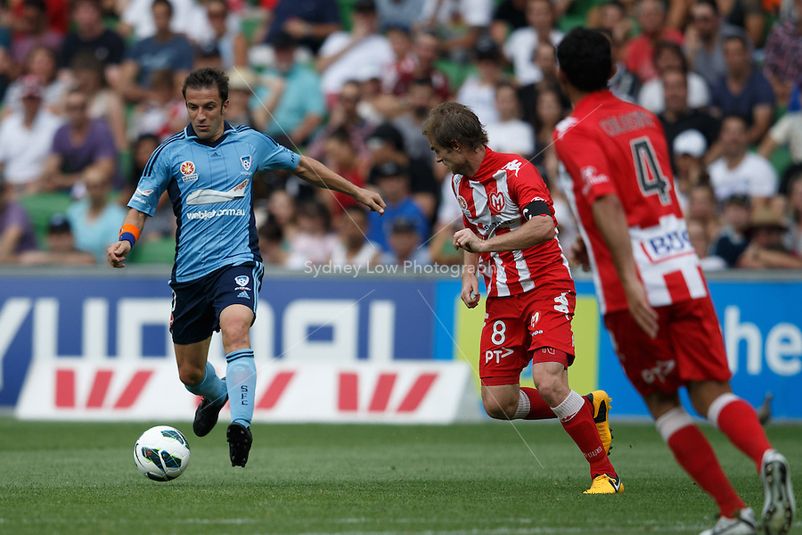 MELBOURNE - 24 FEB: Alessandro DEL-PIERO of Sydney controls the ball in the round 22 A-League match between Melbourne Heart and Sydney FC at AAMI Park on 22 February 2013. (Photo Sydney Low/syd-low.com/Melbourne Heart)