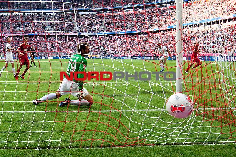 15.09.2012, Allianz Arena, Muenchen, GER, 1.FBL,  FC Bayern Muenchen vs. 1. FSV Mainz 05, im Bild Tor zum 3-1 durch Toni Kroos (FCB #39)   / Foto © nph / Straubmeier *** Local Caption ***