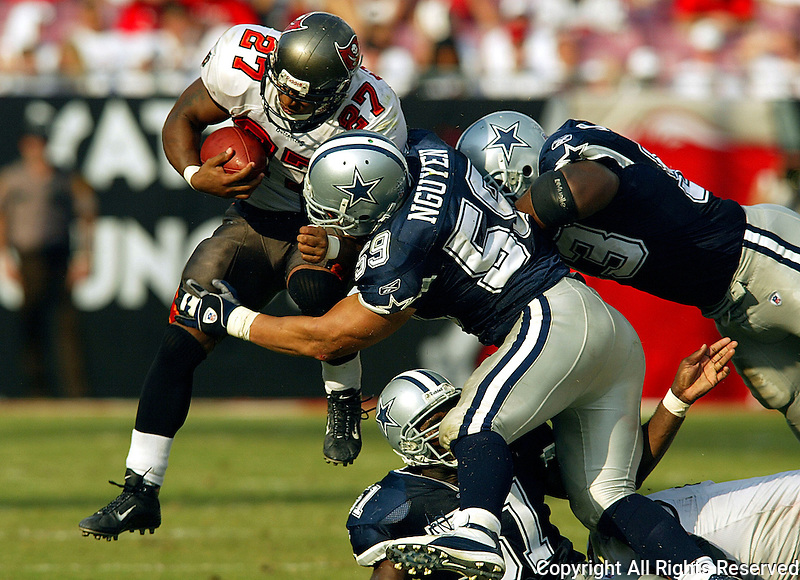 In an NFL game played at Raymond James Stadium where the Tampa Bay Buccaneers defeated the Dallas Cowboys 16-0