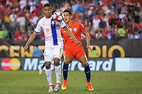 Action photo during the match Chile vs Panama, Corresponding to Group -D- America Cup Centenary 2016 at Lincoln Financial Field.<br /> <br /> Foto de accion durante el partido Chile vs Panama, Correspondiente al Grupo -D- de la Copa America Centenario 2016 en el  Lincoln Financial Field, en la foto: (i-d)  Gabriel Torres de Panama y Enzo Rocco de Chile<br /> <br /> <br /> 14/06/2016/MEXSPORT/Osvaldo Aguilar.