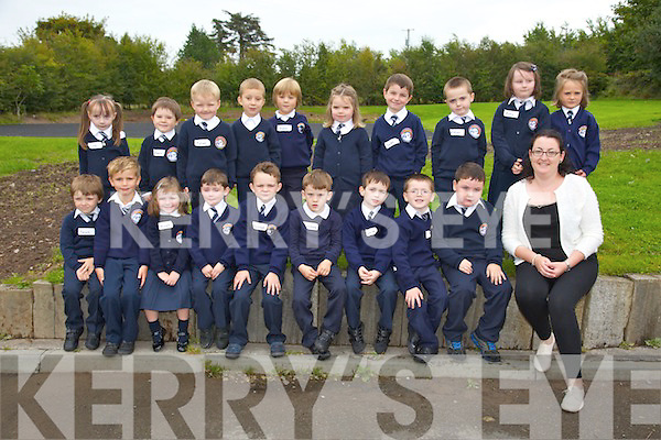 First Day for Ms Eveleen McCarthy's Junior Infants at Caherlaheen NS Pictured Ruby Crean, Aaron Crean, Niamh Fitzgibbon, Sean Murphy, Jayden Sugrue, Nadya McHugh,Sean Sargent, Ewan Morris, Mateusz Mikolajczuk, Liam Brennan, Oskar Bartczak, Culainn O'Shea, Ethan Foster, Cora Heffernan, Daisy O'Sullivan, Dylan Sheridan, Luke Hanafin O'Meara, Darragh Field, Matthew Moriarty