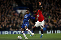 30th October 2019; Stamford Bridge, London, England; English Football League Cup, Carabao Cup, Chelsea Football Club versus Manchester United; Fred of Manchester Utd fouls Callum Hudson-Odoi of Chelsea - Strictly Editorial Use Only. No use with unauthorized audio, video, data, fixture lists, club/league logos or 'live' services. Online in-match use limited to 120 images, no video emulation. No use in betting, games or single club/league/player publications