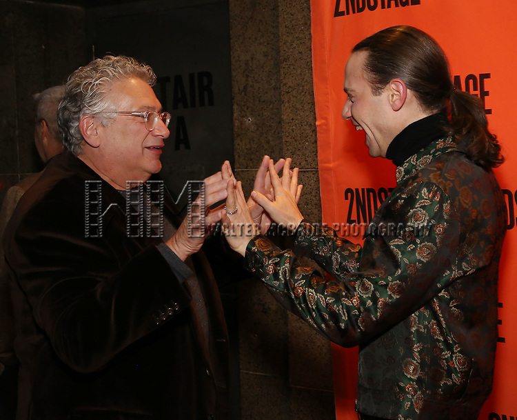 Harvey Fierstein and Jordan Roth attends the Off-Broadway Opening Night performance of the Second Stage Production on 'Torch Song'  on October 19, 2017 at Tony Kiser Theater in New York City.