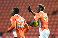 Blackpool's Armand Gnanduillet celebrates scoring his side's second goal <br /> <br /> Photographer Richard Martin-Roberts/CameraSport<br /> <br /> The EFL Sky Bet League One - Blackpool v Walsall - Saturday 10th February 2018 - Bloomfield Road - Blackpool<br /> <br /> World Copyright &not;&copy; 2018 CameraSport. All rights reserved. 43 Linden Ave. Countesthorpe. Leicester. England. LE8 5PG - Tel: +44 (0) 116 277 4147 - admin@camerasport.com - www.camerasport.com