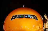 Boeing 777 TNT Orange transport aircraft