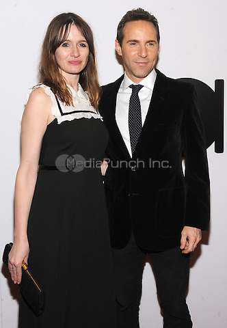 NEW YORK, NY - DECEMBER 16: Emily Mortimer and Alessandro Nivola  attends the opening of the Mica and Ahmet Ertegun Atrium at Jazz at Lincoln Center on December 17, 2015 in New York City.  Photo Credit: John Palmer/MediaPunch