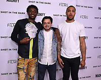 """WEST HOLLYWOOD - FEBRUARY 15: Tyquone Greer, Director Dustin Nakao-Haider, and Marquise Pryor arrive for the LA screening of Fox Sports """"Shot in the Dark"""" at the Pacific Design Center on February 15, 2018 in West Hollywood, California.(Photo by Frank Micelotta/Fox/PictureGroup)"""