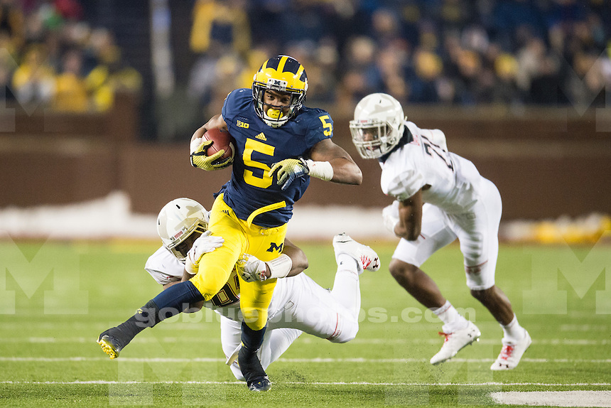 The University of Michigan football team loses to Maryland, 23-16, at Michigan Stadium in Ann Arbor on Nov. 22, 2014.
