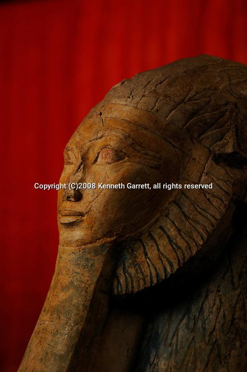 Hatshepsut,Sphinx of Hatshepsut, The Egyptian Museum, Cairo,  JE53113,New Kingdom; 18th dynasty; painted plaster; from Deir al-Bahari; statue; JE53113