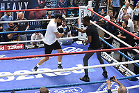 Hamzah Sheeraz during a Public Workout at Old Spitalfields Market on 9th July 2019