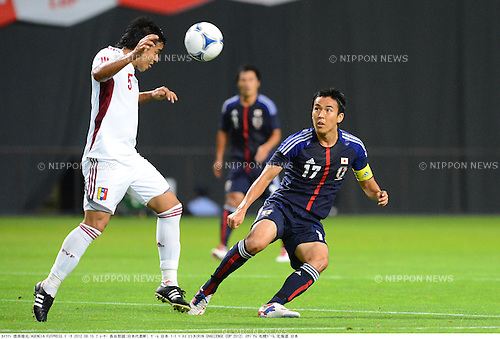 Francisco Flores (VEN), Makoto Hasebe (JPN),.AUGUST 15, 2012 - Football / Soccer : KIRIN Challenge Cup (international friendly match)  between Japan 1-1Venezuela at Sapporo Dome in Sapporo, Hokkaido, Japan..(Photo by Takamoto Tokuhara/AFLO).