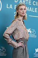"VENICE, ITALY - SEPTEMBER 07: Elizabeth Debicki attends ""The Burnt Orange Heresy"" photocall during the 76th Venice Film Festival at Sala Grande on September 07, 2019 in Venice, Italy. (Photo by Mark Cape/Insidefoto)<br /> Venezia 07/09/2019"
