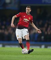 Manchester United's Nemanja Matic<br /> <br /> Photographer Rob Newell/CameraSport<br /> <br /> Emirates FA Cup Fifth Round - Chelsea v Manchester United - Monday 18th February - Stamford Bridge - London<br />  <br /> World Copyright © 2019 CameraSport. All rights reserved. 43 Linden Ave. Countesthorpe. Leicester. England. LE8 5PG - Tel: +44 (0) 116 277 4147 - admin@camerasport.com - www.camerasport.com